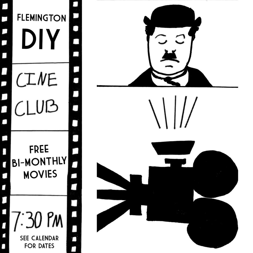 A bi-monthly film screening focusing primarily on classic and foreign films. More info: flemdiycineclub@gmail.com. 7:30pm, Free Admission. See CALENDAR for dates.
